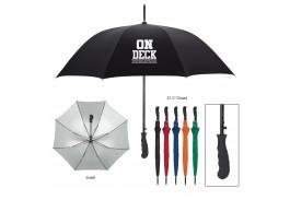 "47"" Auto Open Silver Lining Umbrella"