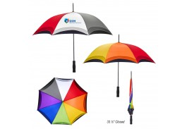 "46"" Auto Open Rainbow Umbrella"