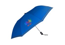 "44"" Auto Open See Thru Reflective Umbrella"