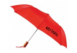 "Mini 43"" Auto Open Folding Wood Handle Umbrella"