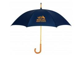 """48"""" Manual Open Wood Handle Umbrella"""