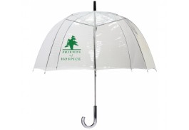 "48"" Manual Open Wood Handle Clear Umbrella"