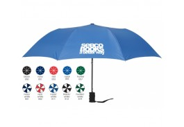 "Mini 42"" Auto Open Folding Umbrella with Finger Grip Handle"