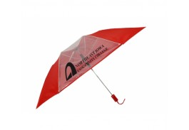 "Mini 43"" Auto Open 7 & 1 Clear Panel Folding Umbrella"